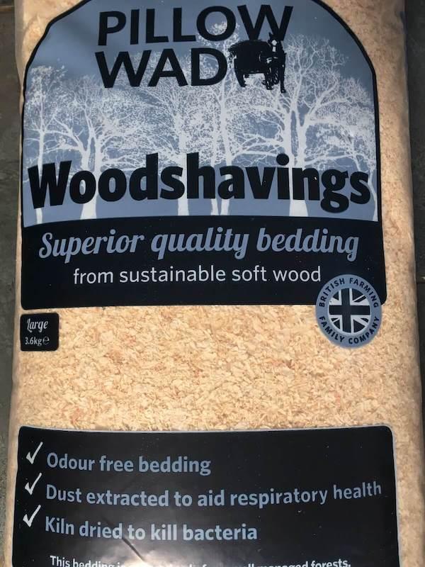 pack of kiln dried pine shavings for guinea pig bedding